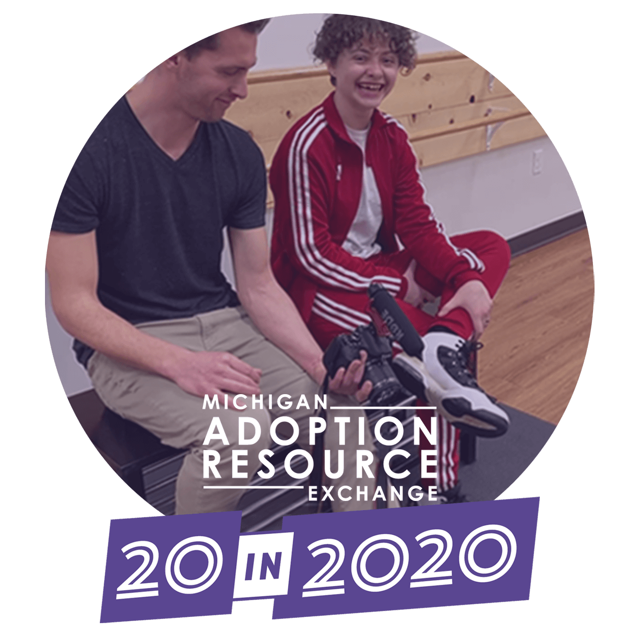 MARE 20 in 2020 logo and working with children photo
